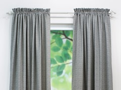 Interlochen Rod Pocket Curtain Panel-Grey-3 Lengths