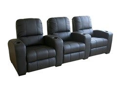 Black 3-Seat Antipholus Reclining Theater Seats