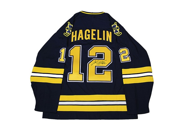 innovative design c032c afb2a Carl Hagelin Signed Michigan Jersey