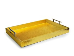 Alligator Gold Tray with Metal Handles