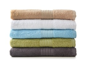 4-Piece Cotton Bath Towel Set - 5 Colors