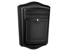 Maison Locking Wall Mount Mailbox, Black