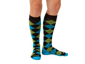 Zensah Argyle Compression Socks, 2Colors
