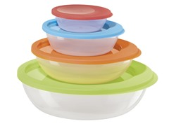 Oggi 4-Piece Round Storage Sets with Lids