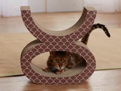 Cat's Eye Cardboard Cat Scratcher - Brown