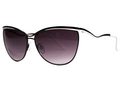 Nellie Sunglasses, Black/White