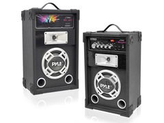 Pyle 600W Disco Jam Powered Two-Way PA (Pair)