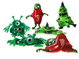 Melting Creature 3-Pk (Witch/Zombie/Monster)