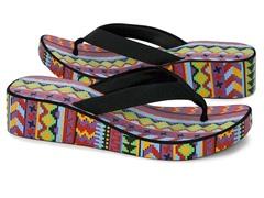 MUK LUKS® Women's Wedge Flip Flop,Purple