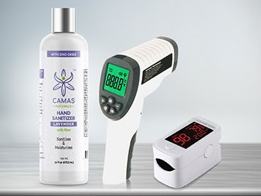 Hand Sanitizer, Thermometers, and More