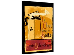 Le Chat Dans La Boite Gallery Wrapped Canvas 2-Sizes