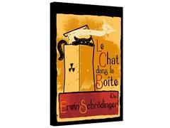 Le Chat Dans La Boite Gallery Wrapped Canvas 2-Sizes