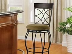 Curves Back Metal Stool (2 Sizes)