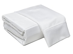 800TC 100% Cotton Sheets-White-King