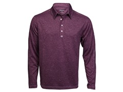 Trilogy Long-Sleeve Polo - Purple