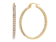 18kt Gold Plated 40mm CZ Hoops