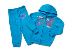 Toddler Girls Ocean Blue Fleece Set