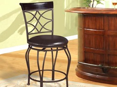 "Linon Curves Back 24"" Counter Stool"