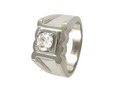 SS Simulated Diamond Ring