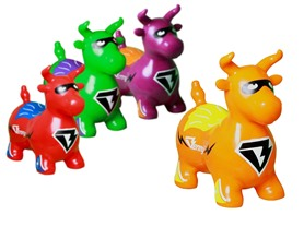 Super Benny the Jumping Bull, 4 Colors