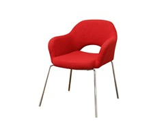 Twill Executive Arm Chair - Red