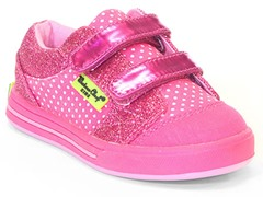 Double Strap Low Top - Pink Dot