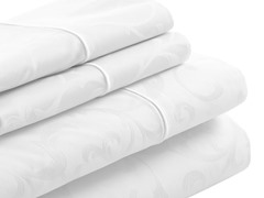400 Thread Count Jacquard FittedSet - Queen