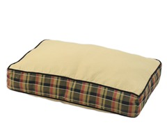 Hyannis Palomino Plaid Caramel Pet Bed