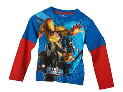 Ironman 3 Long Sleeve Tee - Blue (4-7)