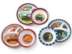 6-Piece Plate/Bowl Set - Car