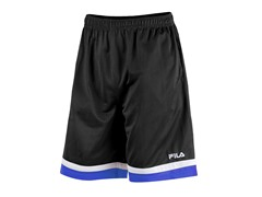 Workout Training Shorts, Black/Blue (S)