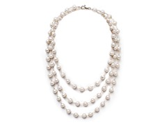 SS White Pearl Necklace