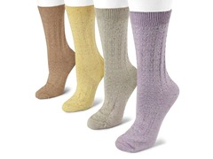MUK LUKS 4-pk Confetti Crew Socks