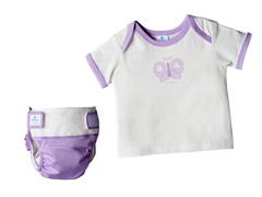 4-Piece Lavender Diaper Starter Kit