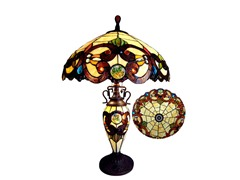 Tiffany-Style Double-Lit Table Lamp
