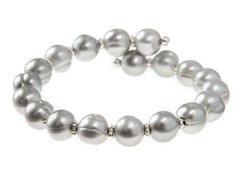 Grey Freshwater Pearl Bangle