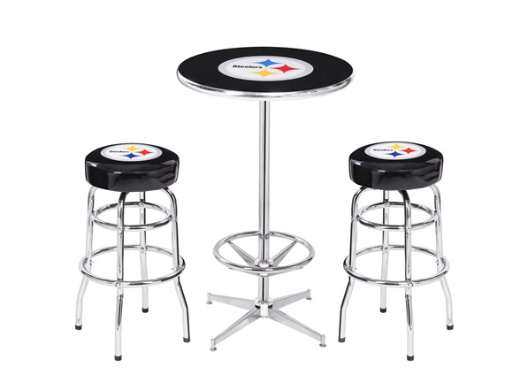 Nfl Pub Table And 2 Stools