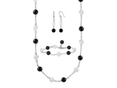 Black Agate Faceted Jewelry Set