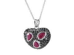 SS Ruby & Spinel Pendant