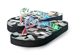 Light Up Flip-Flops - Black