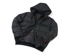 Hawke Puffer Down Jacket w/ Hood - Black