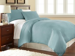Micro Flannel® Duvet Cover Set-Wedgewood- 3 Sizes