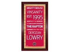 "Toronto Raptors 16"" x 32"" Sign"