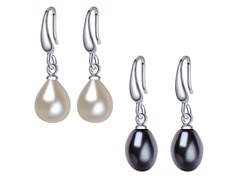 Carmen Pearl Earrings, 2-Pack
