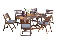 Outdoor Interiors 7-pc Fold & Store Patio Furniture Set