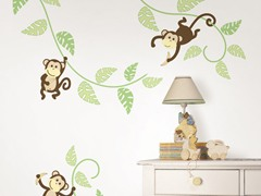Monkeying Around Wall Art Kit