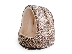 PAW Furry Canopy Cave Pet Bed - Cheetah