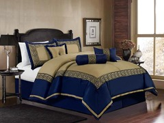 Square 7pc Comforter Set - Taupe - 2 Sizes