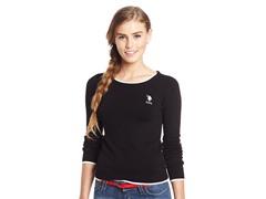 Crew Neck Sweater, Black