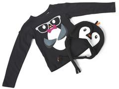 Girls Penguin Hat & Tee